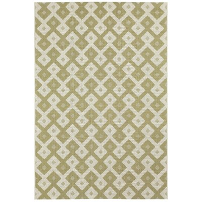 Malle Pistachio Green Diamond Indoor/Outdoor Area Rug Rug Size: 311 x 56