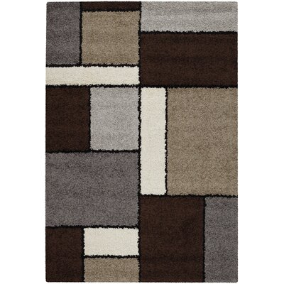 Loretta Chocolate/Gray Area Rug Rug Size: Runner 27 x 710