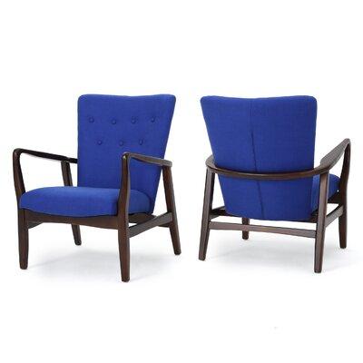 Keri Arm Chair Color: Navy Blue