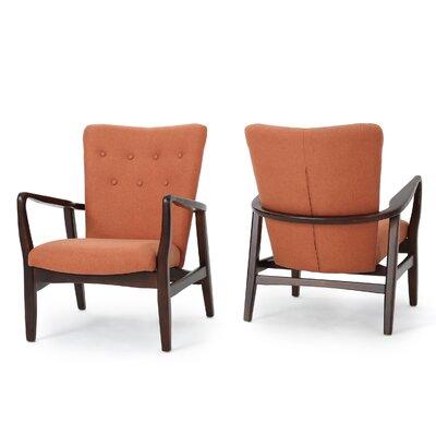 Keri Arm Chair Color: Orange