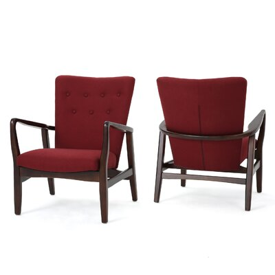Keri Arm Chair Color: Deep Red