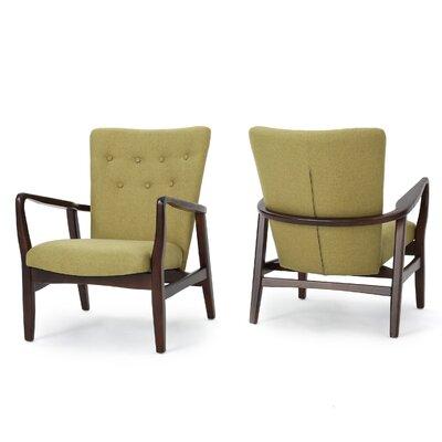 Keri Arm Chair Color: Wasabi