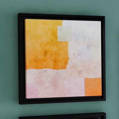 Abstract Squares I Framed Painting Print on Wrapped Canvas Size: 10'' x 10''