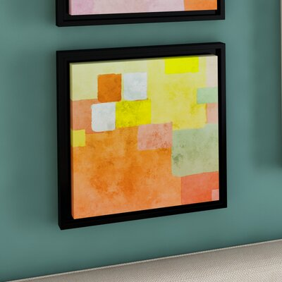 Abstract Squares III Framed Painting Print on Wrapped Canvas Size: 10'' x 10''