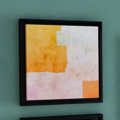Abstract Squares I Framed Painting Print on Wrapped Canvas Size: 14
