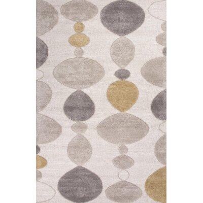 Ballylinney Ivory/Gray Area Rug Rug Size: Rectangle 5 x 8