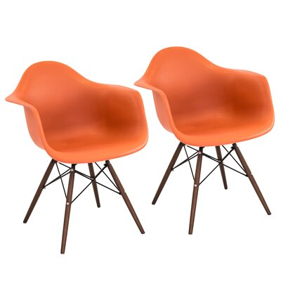 Cary Armchair Finish: Orange