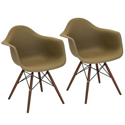 Drumahiskey Flair Armchair Color: Olive