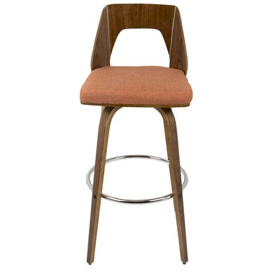 30 Swivel Bar Stool Upholstery: Orange