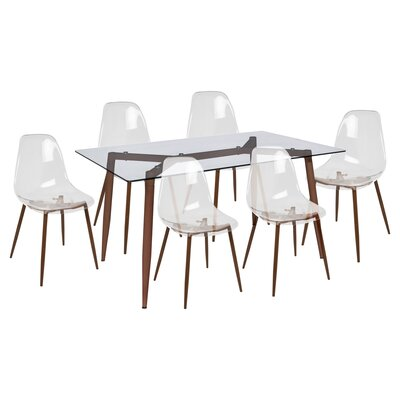 Canisteo 7 Piece Dining Set Finish: Walnut