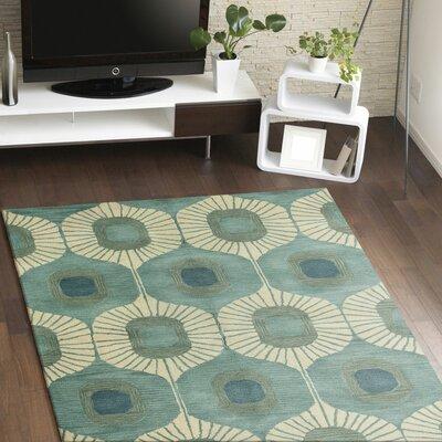 Fremont Wool Aqua Area Rug Rug Size: 5 x 7