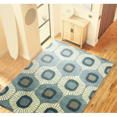 Fremont Wool Light Blue Area Rug Rug Size: 3'6