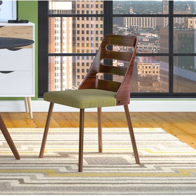 Vita Side Chair Upholstery: Green