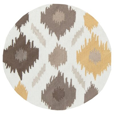 Croghan Ikat Area Rug Rug Size: Round 3