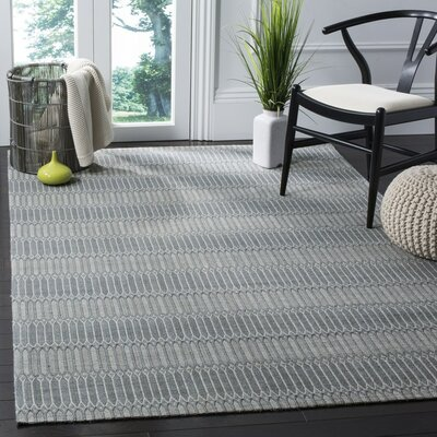 Alexandria Hand-Woven Silver Area Rug Rug Size: Rectangle 6 x 9
