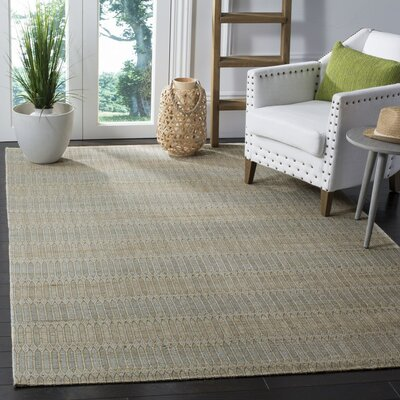 Alexandria Hand-Woven Blue/Gold Area Rug Rug Size: 4 x 6