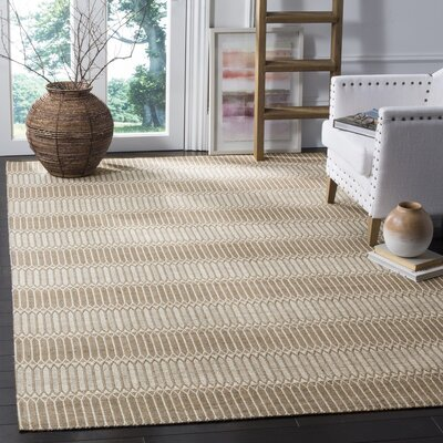 Alexandria Hand-Woven Brown Area Rug Rug Size: Rectangle 6' x 9'