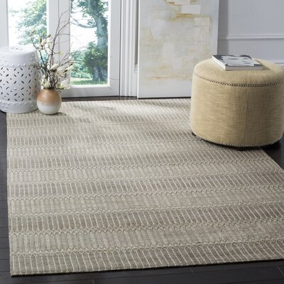 Alexandria Hand-Woven Camel/Gray Area Rug Rug Size: Rectangle 3 x 5