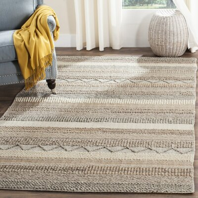 Daytona Beach Hand-Tufted Beige Area Rug Rug Size: Rectangle 4 x 6