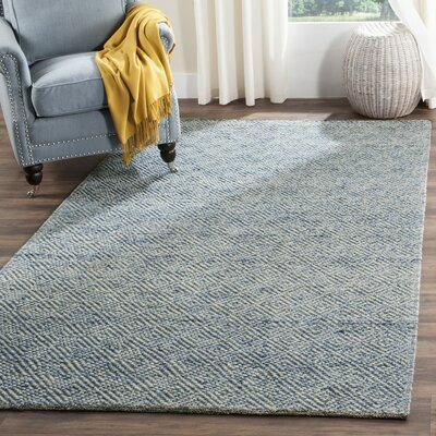 Daytona Beach Hand-Tufted Blue Area Rug Rug Size: Rectangle 9 x 12