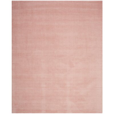 Aghancrossy Hand-Loomed Light Pink Area Rug Rug Size: Rectangle 4 x 6