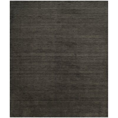 Aghancrossy Hand-Loomed Charcoal Area Rug Rug Size: Rectangle 4 x 6