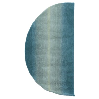 Belding Half Circle Hand-Tufted Blue Area Rug Rug Size: Semi-circle 2 x 4