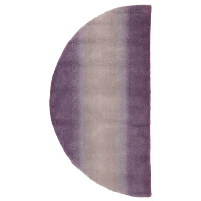 Belding Hand-Tufted Wool Purple Area Rug Rug Size: Semi-circle 2 x 4