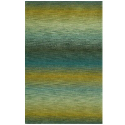Belding Hand-Tufted Blue/Gold Area Rug Rug Size: 36 x 56