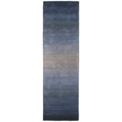 Belding Hand-Tufted Wool Blue Area Rug Rug Size: Runner 23 x 8