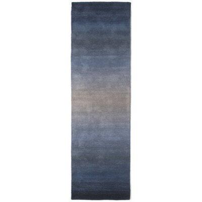 Belding Hand-Tufted Wool Blue Area Rug Rug Size: Runner 23 x 10