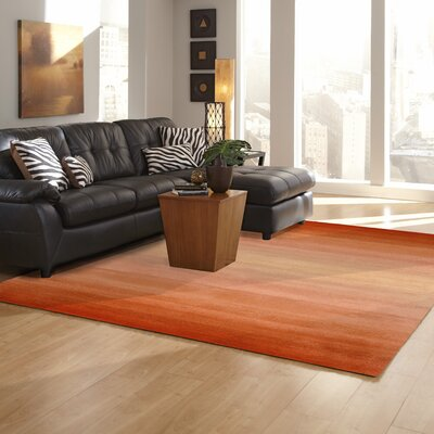 Korina Orange Horizon Area Rug Rug Size: 8 x 10
