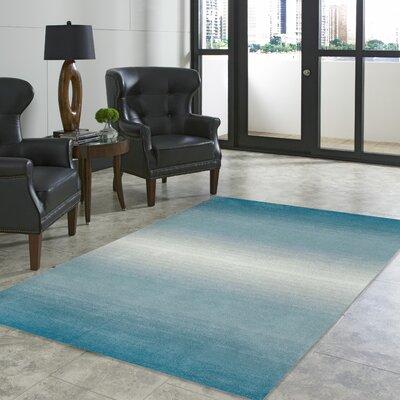 Korina Aqua Horizon Area Rug Rug Size: 36 x 56