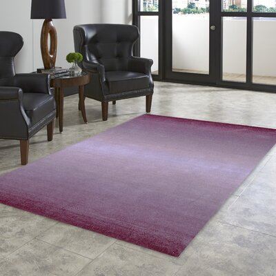 Belding Hand-Tufted Wool Purple Area Rug Rug Size: Rectangle 9 x 12