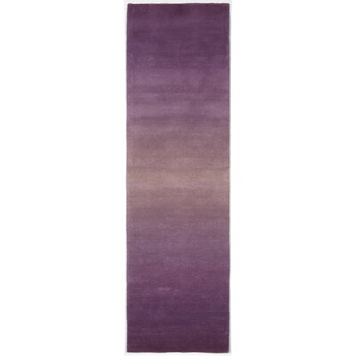 Belding Hand-Tufted Wool Purple Area Rug Rug Size: Runner 23 x 8