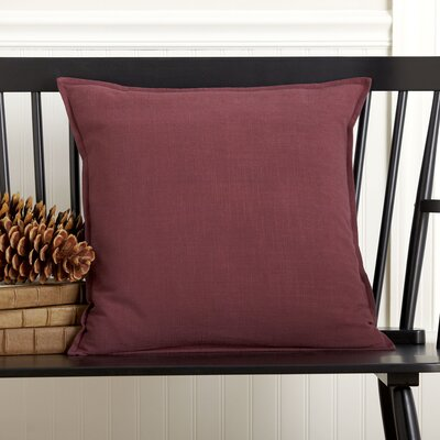 Chaplin 100% Cotton Pillow Cover Color: Burgundy