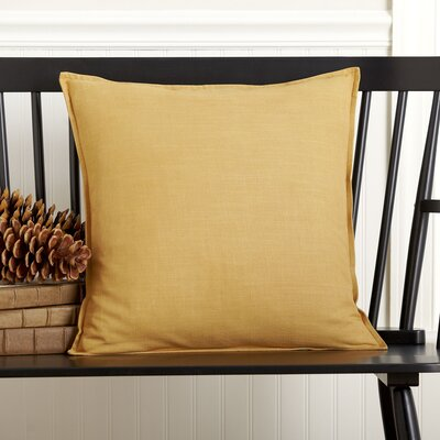 Columbine 100% Cotton Pillow Cover Color: Honey Mustard