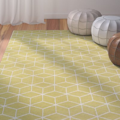 Julie Yellow Area Rug Rug Size: 9 x 12
