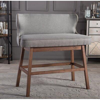 Drury Upholstered Bar Dining Bench Finish: Grey