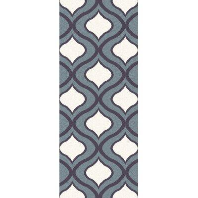 Eamor Slate Area Rug Rug Size: Runner 27 x 73