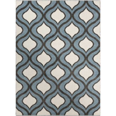 Eamor Slate Area Rug Rug Size: Rectangle 53 x 73