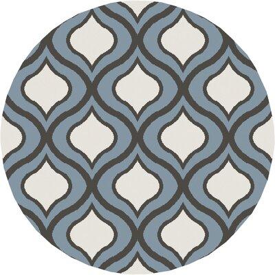 Eamor Slate Area Rug Rug Size: Round 7'10