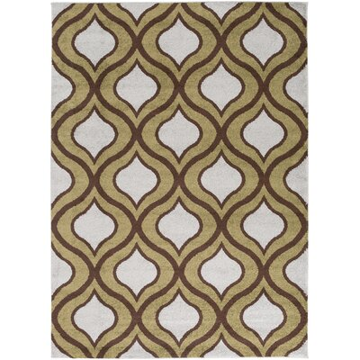 Eamor Olive Geometric Area Rug Rug Size: Rectangle 93 x 126