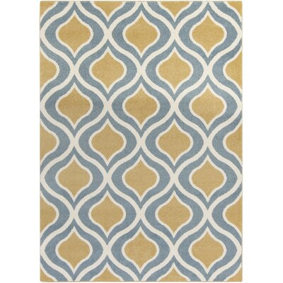 Eamor Gold/Slate Area Rug Rug Size: Rectangle 93 x 126