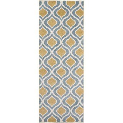 Eamor Gold/Slate Area Rug Rug Size: Runner 27 x 73