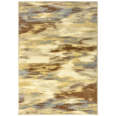 Medford Khaki Area Rug Rug Size: Rectangle 53 x 77