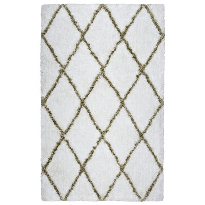 Vaquero Hand-Tufted White/Beige Area Rug Size: Rectangle 3 x 5