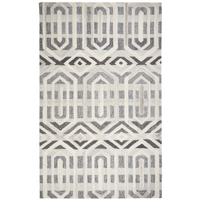 Yucca Place Hand-Tufted Gray Area Rug Rug Size: Rectangle 8 x 10