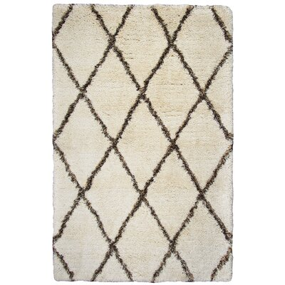 Vaquero Hand-Tufted Beige/Brown Area Rug Size: 76 x 96