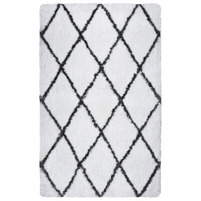 Vaquero Hand-Tufted Bright White/Gray Indoor/Outdoor Area Rug Size: 76 x 96